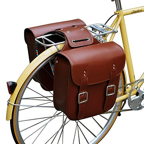 HAIHAOYF Bolsa de Bicicletas Bolsa de Cuero Bolsas traseras Bolsas de Bicicleta Robustas Bolsa de Asiento Trasero para Bicicleta Retro Accesorios de Silla de Montar