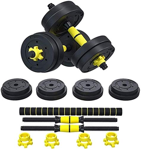 Free Weights Dumbbells Set for Men and Women with Connecting Rod Can Be Used As Barbell for Home Gym Work Out Training 10kg/ 22Lbs, 15KG/33Lbs, 20kg/44Lbs (Size : 10kg)