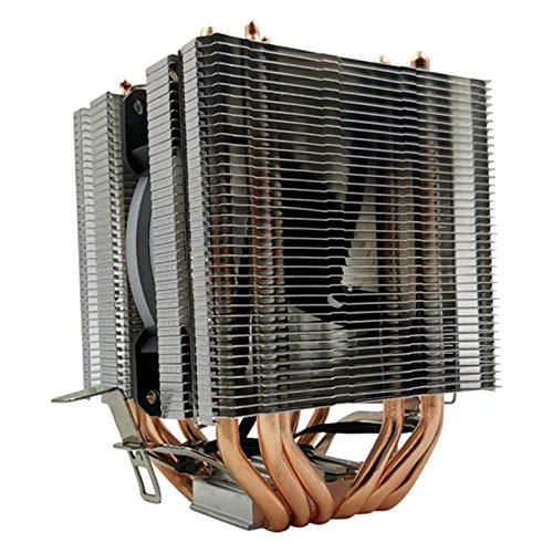 SymArt cojín de enfriamiento CPU Cooler 6 Sistema De Enfriamiento De La Torre De Enfriamiento De La Torre De Cobre Puro 9CMCPU...