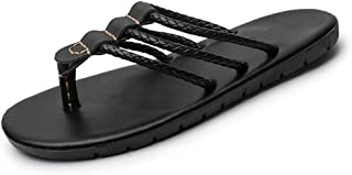 Shoes Comfortable Summer Fashionable Slippers for Men Thong Flip Flops Beach Shoes Slip On Multi Straps Solid Color Lightweight Experienced Stitched Anti Slip Quick-Drying Fashion