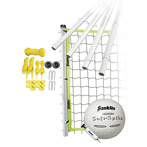 Franklin Sports Volleyball Set - Beach and Backyard Volleyball Net Set - Portable Volleyball Net and...
