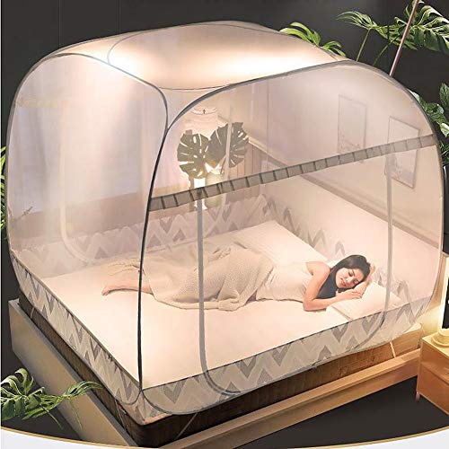 LYXQQ Mosquito Net, Freestanding Mosquito Net Bed Tent, Foldable Pop-Up Mosquito Net for Extra Space, Used for Double Bed 1.5M, 1.8M, 2.0M Bedroom,1.8m