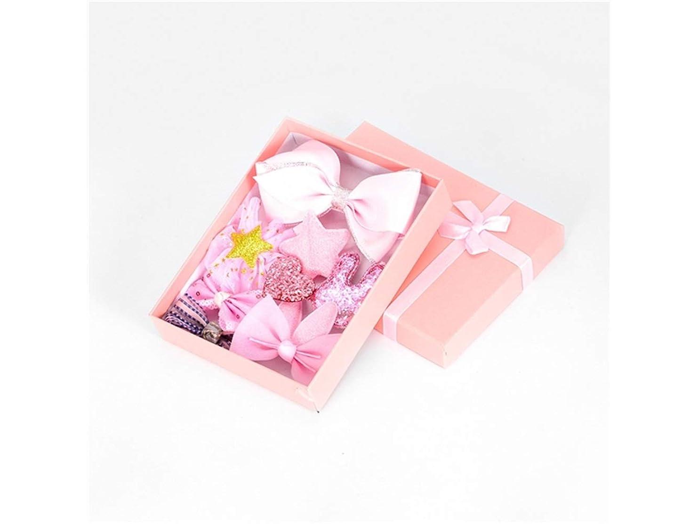 サルベージあまりにもミニOsize 美しいスタイル 10ピースキッズ幼児ヘアピン赤ちゃん少女漫画動物モチーフヘアクリップセット(ピンク)
