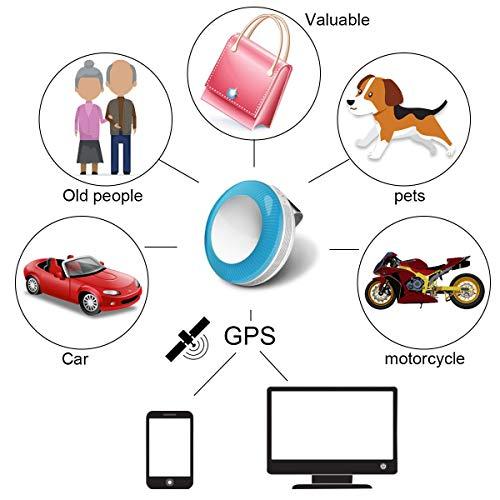 Winnes Mini Tracker GPS localisateur Anti-Perte WiFi Étanche Traceur pour Animal De Compagnie Chien Chat Clés Portefeuille Sac Enfants Trackers Finder Équipement