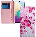 COTDINFOR Nokia 2.2 Hülle 3D-Effekt Painted cool Schutzhülle Flip Bookcase Handy Tasche Schale mit Magnet Standfunktion Etui für Nokia 2.2(2019) Pink Peach Flower BX.