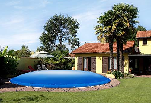 ! (Profi-Qualität) Runde aufblasbare Poolplanen Schwimmbad Abdeckungen aus LKW-Plane (Pooldurchmesser: 200cm, Grün)