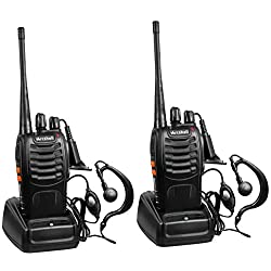 Arcshell Rechargeable Long Range Two-Way Radios with Earpiece...