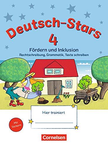 Deutsch-Stars - Allgemeine Ausgabe - 4. Schuljahr: Fördern und Inklusion - Übungsheft - Mit Lösungen