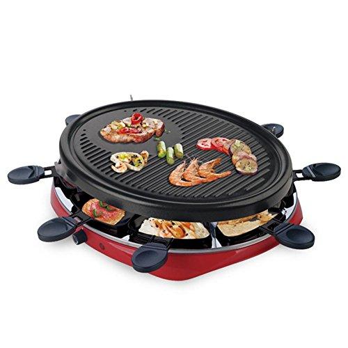 Plaque de gril de plaque non-bâton de plaque chauffante de barbecue amovible 1201W-1500W pour 4-5 personnes (8 * poignées)