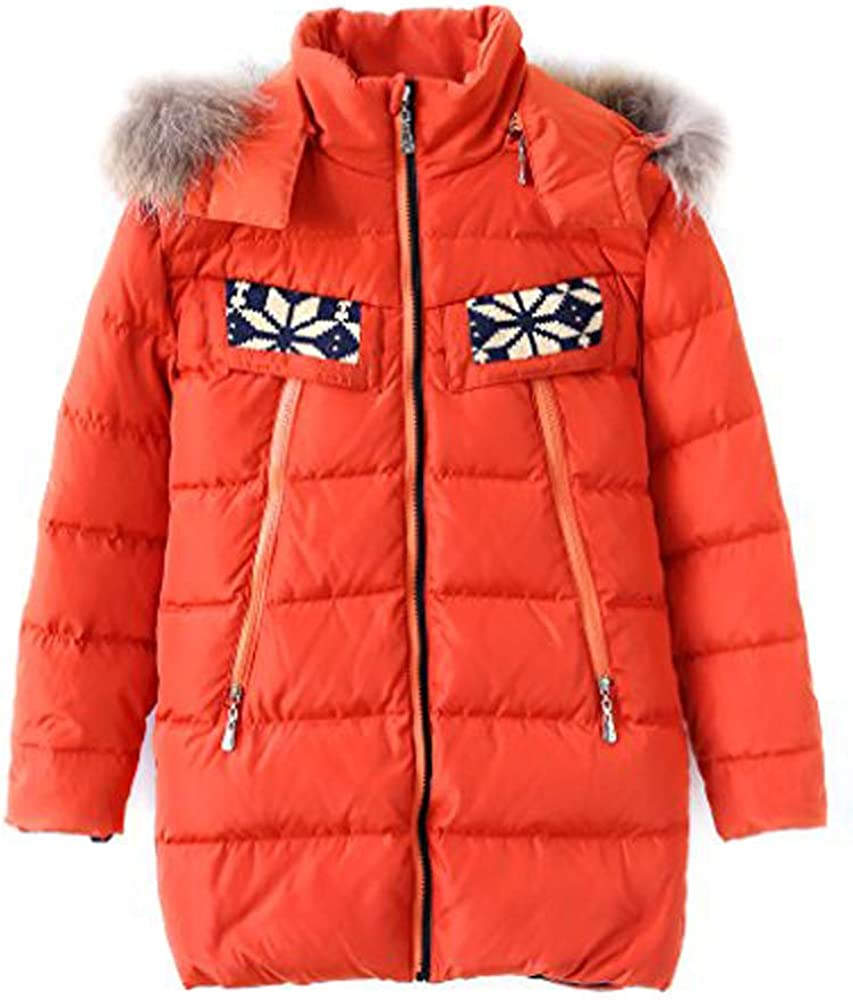M2C Boys & Girls Fur Hooded Lightweight Puffer Down Jacket Outerwear