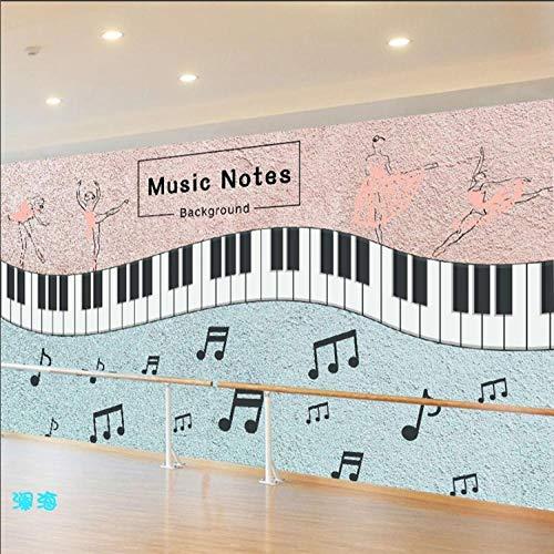 WWMJBH Papel Pintado Autoadhesivo (Ancho) 350X (Alto) 256Cm3D Notas Musicales...