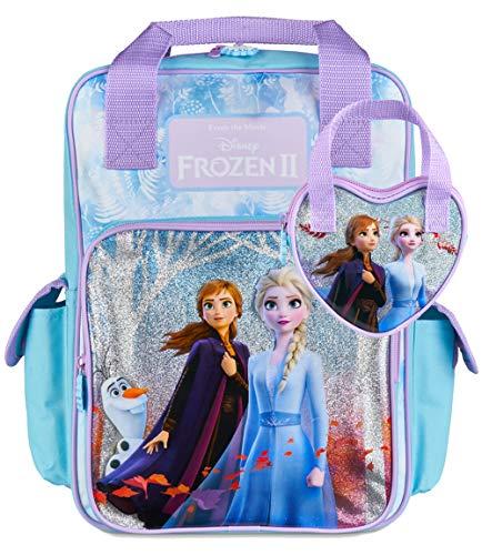Disney® Offizieller Die Eiskönigin 2 Rucksack für Mädchen mit Elsa und Anna & Passende Mädchen-Handtasche, Schul Rucksäcke & Taschen für Mädchen | Eiskönigin 2 Großer Kinder Rucksack