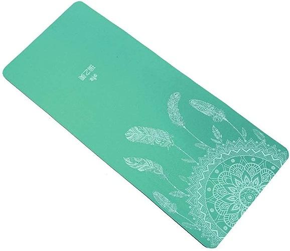 BFQY FH Tapis De Yoga, Tapis d'exercice élargi Et Long pour Débutant Tapis De Fitness pour Homme Et Femme Tapis De Yoga Imprimé Antidérapant 185 × 80cm, épaisseur 6mm