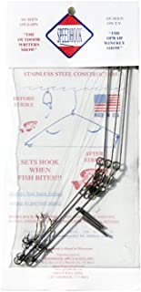 Fishing Hook - Spring Loaded Speedhook - Easy Action Snare for Pan or Ice Fishing, Survival and Trapping (3 Piece Pack)