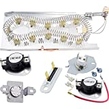 Canamax Premium 3387747 Dryer Heating Element & 279816 Thermostat Kit & 279973 3392519 Dryer Thermal Cut-off Fuse Kit Replacement - Compatible with Whirlpool Kenmore Dryers