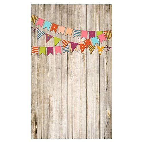 Mugast 150 cm * 210 cm Studio fotografie achtergrond doek, houtnerf retro decoratie achtergrond voor baby, bruiloft, themafeest, K-10265