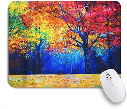Mauspad Mauspad Braun Original Ölgemälde Auf Leinwand Herbst Bäume Kunst Mousepad Basis für Computer Schreibtischzubehör