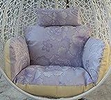 JBNJV Cojines para sillas con Cesta Colgante Cojines Gruesos para sillas Columpios sin Soporte Cojines para sillas de Hamaca para Huevos de Patio para Exterior-Albaricoque Doble