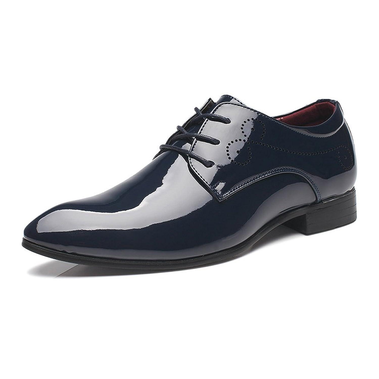 MUMUWU ビジネスシューズ メンズ 滑り止め 軽量 通気 レザー 古典的 革靴 通勤 快適 ビジネスシューズ