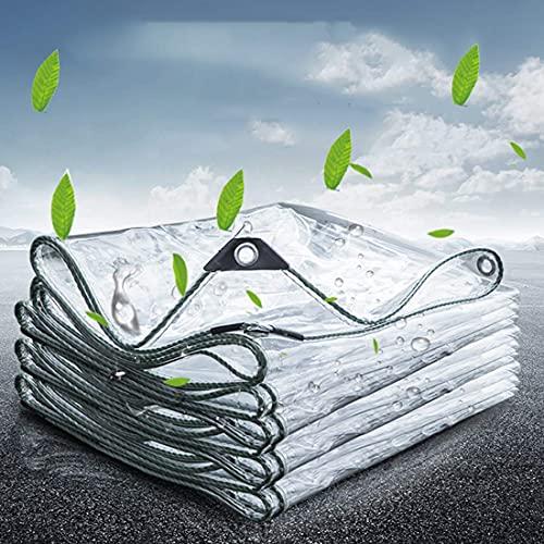Genomskinligt glas flygplan solskydd skydd plan genomskinlig plastfolie fönster vattentät näsduksväxt växthus skyddsfilm gardin regnskydd presenning (storlek: 3 x 5 m/9,8 x 16,4 fot)