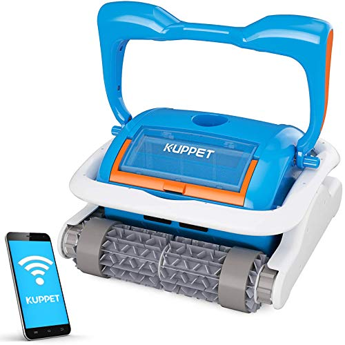 Kenwell Automatic Robotic Pool Cleaner with Large Filter Basket, App Control Function and Wall...