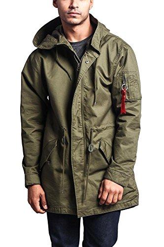 G-Style USA Men's MA-1 Bomber Style Anorak Jacket - JK715 - Olive - Small - G1G