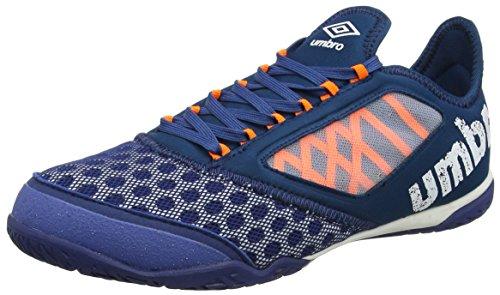 UMBRO Herren Vision Plus Pro Fußballschuhe, Blau (Navy Peony/White/Shocking Orange), 43 EU