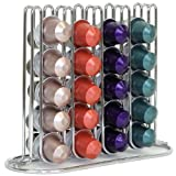 Slim and Sleek Coffee Pod Holder and Organizer for 40 Coffee Pods Creamer (Silver-tone)