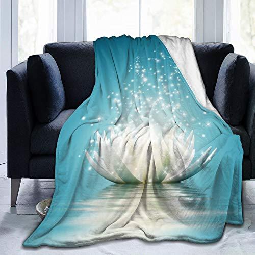 GKGYGZL Couverture Confortable en Flanelle Fine, Fleur de Lotus Magique, Couverture de climatiseur 60 'X 50'