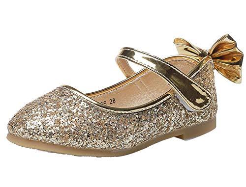 PPXID Mary Jane - Zapatos para niña con purpurina, zapatos de boda,...