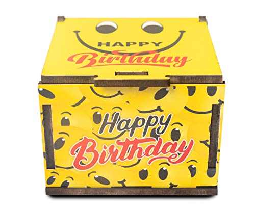 Celebr8 Birthday Gifts Greeting Cards in Wooden Box, Box with Message