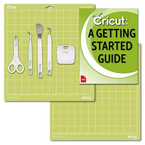 Cricut Machine Basic Tools Set, 2 Pack 12x12 Cutting Mats and Beginner eGuide Bundle