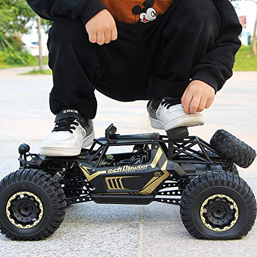Lotees 2.4Ghz 4WD Alloy RC Car Large Off Road Buggy Radio Remote Control Cars Monster Truck Racing High Speed Vehicle Climbing Car Electric Car Boys Girls Children Gifts Kids Toy