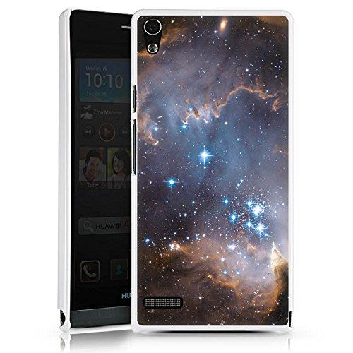 DeinDesign Cover kompatibel mit Huawei Ascend P6 Hülle Schutz Hard Hülle Sterne Galaxie Universum