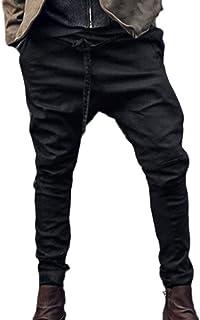 Pantalones Pantalones Harén Pantalones Sueltos Pantalones Retro Modernas Casual Pantalones Piratas para Hombre Pantalones De Chándal Pantalones Harén De Color Sólido De La Moda Otoñal Hombres