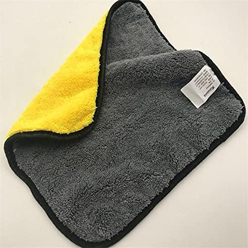 /Lot Paño de limpieza de microfibra absorbente gruesa toalla de cara doble lavado toalla de secado de vidrio de metal trapo lavado de coches herramienta limpia 4 unids