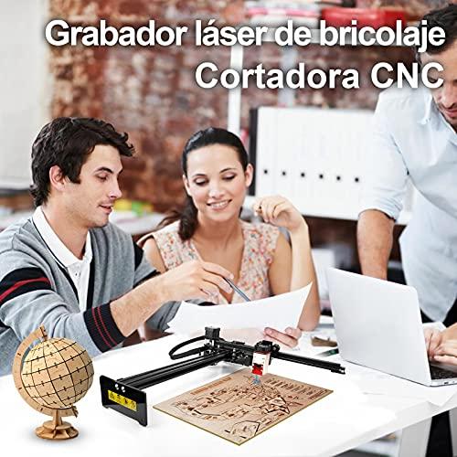 Oakeroo 30W PLUS Máquina de grabado láser, control de aplicaciones de bricolaje, teléfonos y computadoras de soporte, impresora de marcado de logotipos, rango de trabajo de 255x420 mm, módulo de 7.5W