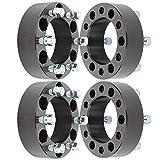 WHEELTECH 4X 2 inch 6x5.5 to 6x5.5 14x1.5 Studs Wheel Spacers 6x139.7 to 6x139.7 6 Lug fits for Chevrolet Silverado 1500 for Suburban 1500 Tahoe