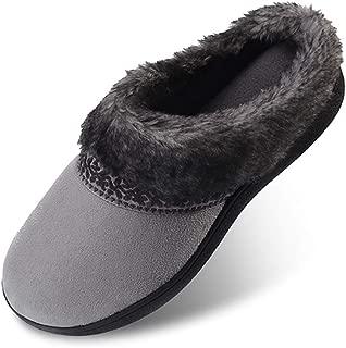 Women's Memory Foam Slippers Non Slip Soft Plush Fleece Lined House Shoes Indoor/Outdoor