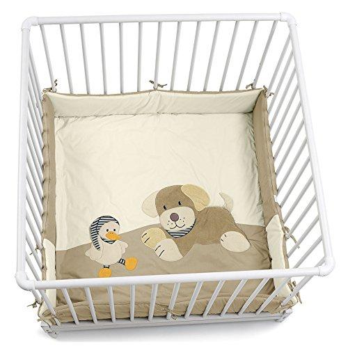 Sterntaler Laufgittereinlage Hund Hanno, Alter: Für Babys ab der Geburt, 100 x 100 cm, Beige
