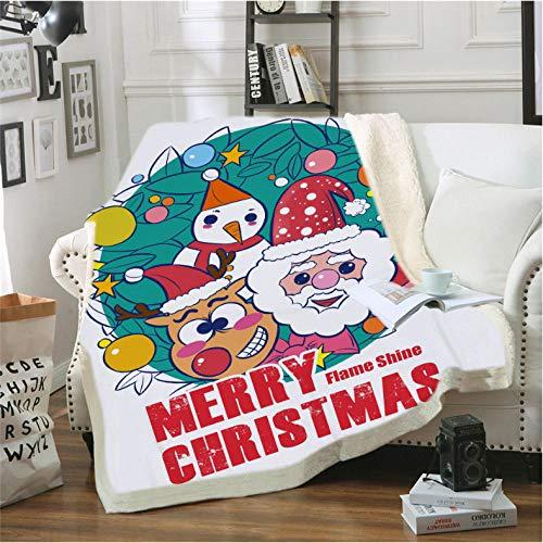 Pmhhc Kerstliefhebbers, 3D bedrukt, sherpa deken, bank, dekbedovertrek, reizen, beddengoed, outlet fluweel, pluche deken, sprei