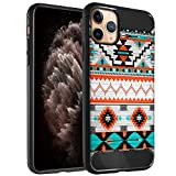 CasesOnDeck Case Compatible with [Apple iPhone 11 Pro Max/XI Pro Max (6.5'')] Soft TPU Bumper Cover Carbon Fiber Texture Flexible (Western Pattern)