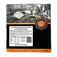 EXPEDITION FOODSexpeditionfoods.com Thai Green Chicken Curry with Rice | Freeze-Dried Camping & Hiking Food| Single Serving | 450kcal Meal
