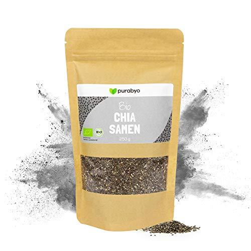 Chia Samen BIO | Naturbelassen ohne Zusätze | Kontrolliert-biologischer Anbau | Rohkost