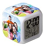 Alarma digital personalizada de 7 colores con cambio de LED,