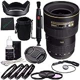 Nikon AF-S NIKKOR 16-35mm f/4G ED VR Lens + 77mm 3 Piece Filter Set (UV, CPL, FL) + 77mm +1 +2 +4 +10 Close-Up Macro Filter Set + Lens Cap + Lens Hood + Lens Cleaning Pen Bundle 2