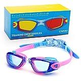 CAPAS Kids Swim Goggles, Age 4-12 Boys Girls Swimming Goggles...