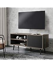WAMPATテレビ台 幅約900mm-1540mm 32インチ~65インチテレビ対応テレビボード ローボード 扉内収納付き収納ラック TVボード 北欧 モダン シンプル AVボード TVボード ホワイト ウォルナット5オプション TS