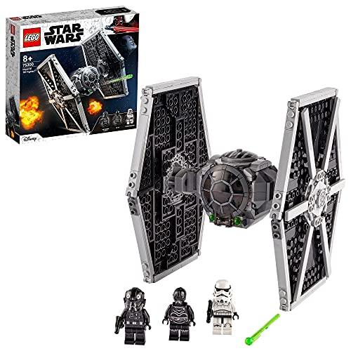 LEGO Star Wars Imperial TIE Fighter, Giocattolo con Stormtrooper e Minifigure del Pilota della Saga degli Skywalker, 75300