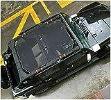 Sun Shade Bimini Bikini Top Shield for 4 Door / 4Dr Jeep Wrangler JK JKU Unlimited